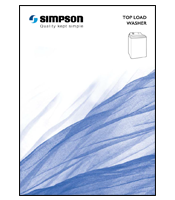 Simpson Top Load Washer Brochure